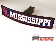 Ole Miss Rebels Trailer Hitch Cover Illuminated NCAA Officially Licensed by tailtalker on Etsy