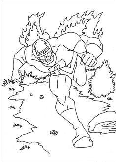 Captain America Målarbilder för barn. Teckningar online till skriv ut. Nº 19