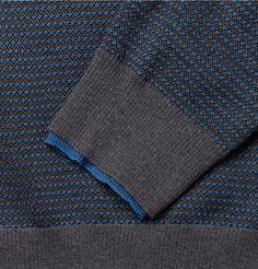 Alexander McQueen Jacquard-Knit Wool and Silk-Blend Sweater