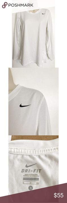 Nike White Dri Fit Long Sleeve Top Only worn once Nike Tops