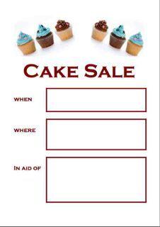 Editable Cake Sale Poster  Cake Sale    Sale Poster