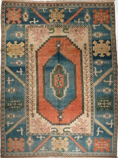 """Sultanahan"" 8.1 x 10.8, Vintage, Turkey // Pak Oriental Rugs"