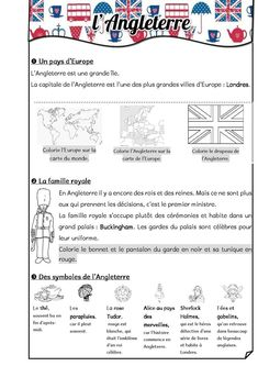 L'Angleterre - Fiches de préparations (cycle1-cycle 2-ULIS) Education Grants, Education Conferences, Education Reform, Education Policy, Education For All, Education Center, French Lessons, English Lessons, English Class