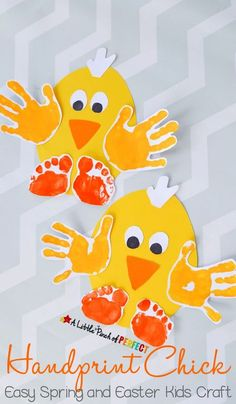 Fun Handprint Art Activities for Kids. Easy Spring and Easter Kids Craft. DIY craft and keepsake ideas. The Flying Couponer. kids 20 Fun Handprint Art Activities for Kids Easter Crafts For Toddlers, Daycare Crafts, Art Activities For Kids, Easter Crafts For Kids, Baby Crafts, Preschool Crafts, Art For Kids, Kids Fun, Spring Toddler Crafts