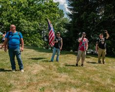 Militias flocked to Gettysburg to foil a supposed antifa flag burning, an apparent hoax created on social media