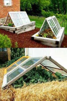 45 DIY Greenhouses with Great Tutorials: Ultimate collection of THE BEST tutorials on how to build amazing DIY greenhouses, hoop tunnels and cold frames! Lots of inspirations to get you started! - A Piece of Rainbow garden shed diy 42 Best DIY Gree