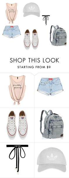 """""""Casual Summer"""" by ansley-lane03 on Polyvore featuring Converse, Joomi Lim and Topshop"""