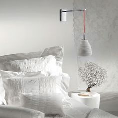 Wall lamp by El Torrent Bedside Reading Light, Reading Lights, Blanco White, Applique Designs, Decoration, Bed Pillows, Pillow Cases, Master Bedroom, Porcelain
