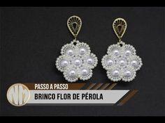 NM Bijoux - Brinco Flor de Pérolas - passo a passo | Волшебство из бисера | Постила