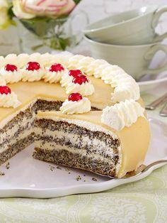 Mohn-Marzipan-Torte backen - so geht's Schritt für Schritt