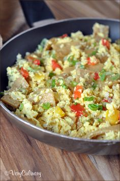 Tex-Mex Migas: scrambled eggs with texture and personality!