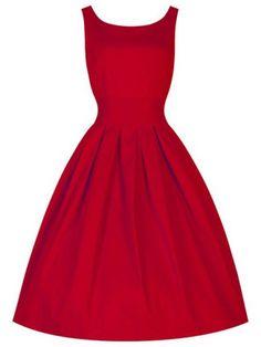 Vintage Scoop Collar Sleeveless Solid Color Women's Midi DressVintage Dresses | RoseGal.com