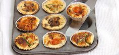 """Laura Munday from Doncaster says """"These mini quiche muffins are my favourite Free snack. They're easy to make and taste delicious. I love them with a big salad or as part a filling Free breakfast with baked beans, tomatoes and mushrooms!"""""""