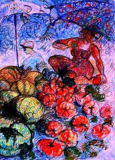 "Saatchi Art Artist Nada  Sucur Jovanovic; Painting, ""Abondant "" #art"