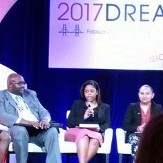 """""""If we work together we can succeed together."""" #CCAC South student Rykai Wright shares her insights on the #AchievingTheDream DREAM Scholars Panel in San Francisco. #ATD_DREAM"""