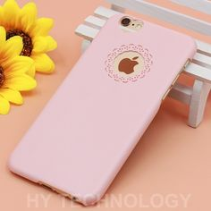 Best Quality Candy Color Phone Case For iPhone 6 6S 6/6S Plus 4 4S 5 5S SE Cute Loving Heart Flower Lace Hard Back Cover Capa