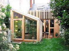 Extension bois maison basse
