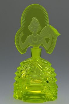 Uranium Glass Perfume Bottle