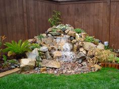Natural Small Pondless Waterfalls Advanced Waterscape - Projects Big and Small Diy Water Feature, Backyard Water Feature, Ponds Backyard, Outdoor Water Features, Water Features In The Garden, Rockery Garden, Garden Pond, Outdoor Waterfalls, Garden Waterfall
