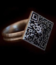 The BTC Ring is 3D printed with a QR code that lets anyone with the corresponding app scan your ring to find out the value of its blockchain.