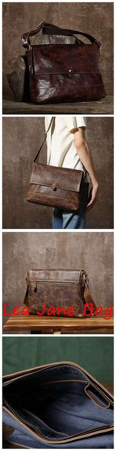 Handmade Leather Messenger Bag, Crossboday Bag, Messenger Bag GLT073 Fashion Handbags, Purses And Handbags, Fashion Bags, Mens Long Leather Wallet, Leather Shoulder Bag, Leather Bags Handmade, Handmade Bags, Backpack Bags, Messenger Bags