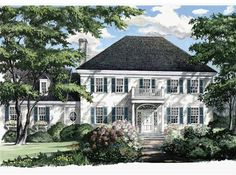 Eplans Adam - Federal House Plan - Myers Park - 2357 Square Feet and 3 Bedrooms from Eplans - House Plan Code HWEPL08540