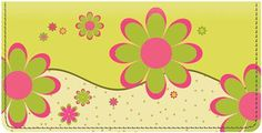 Crazy Daisy Checkbook Cover from Checks-SuperStore.com
