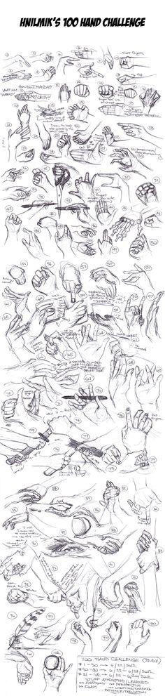 For Design Fundamentals:  100 Hand Challenge (Hand Studies) by ~Hnilmik on deviantART
