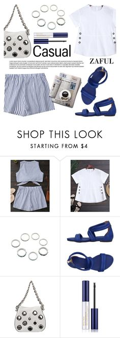 """Zaful"" by helenevlacho ❤ liked on Polyvore featuring Nannini, Prada, Estée Lauder and zaful"
