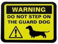 Warning Do Not Step on the Guard Dog