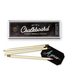 chalkboard pencil set of 8   Urbanic Paper Boutique
