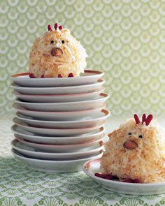 Coconut Chick Cupcakes | Martha Stewart Living - These easy-to-make treats are modeled on a symbol of the season -- baby chicks. With coconut feathers, nutty beaks, and confectionery details, they aren't just eye candy; they're absolutely delectable, too.
