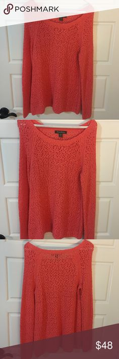 Coral Tommy Bahama sweater (medium) Coral sweater Tommy Bahama Sweaters Crew & Scoop Necks