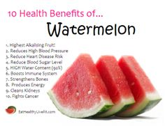 The Health Benefits of Watermelon | Eating Healthy & Living Fit