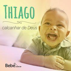 Quem aí também tem um #Thiago em casa ou na barriga? No nosso site, você confere mais curiosidades e a numerologia de Thiago (e de muuuitos outros nomes lindos!) #NomesSignificados #escolhadonome