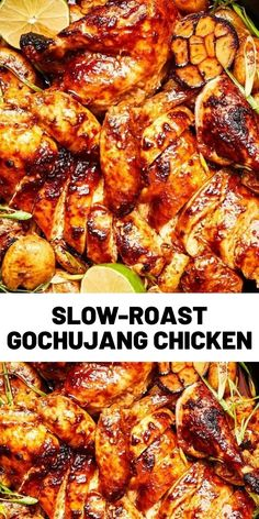 This isn't the crisp-skinned, high-heat roast chicken you're probably familiar with. Instead, it's a melt-in-your-mouth tender, schmaltzy, slow-roast version that's more similar to rotisserie chicken—except [. Gochujang Chicken, Baked Teriyaki Chicken, Fried Chicken, Chicken Appetizers, Roast Chicken Recipes, Slow Cooker Recipes, Crockpot Recipes, Cooking Recipes, Duck Recipes