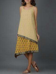 elegant double layer kurti / tunic in mangalgiri  Cotton . #kurti # tunic