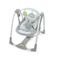 #baby The #swing 'n go #portable swing provides plush luxury with portable convenience! Neutral pastel colors and ultra-plush padding and fabrics make this baby s...