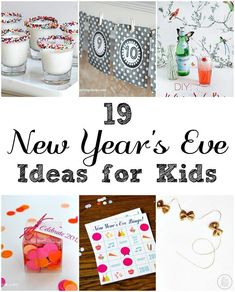 Steph here today with a bunch of New Year's party ideas you can do with your kids. I know we're all in the home stretch of Christmas preparation for next week, so be sure to New Year's Eve Crafts, Diy And Crafts, Crafts For Kids, Holiday Parties, Holiday Fun, Holiday Gifts, Holiday Ideas, Nye Ideas, Festive