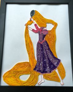 Quilled Rapunzel Disney princess