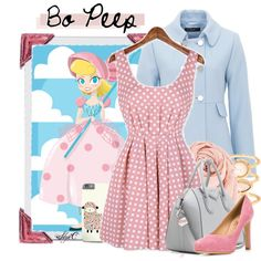 Bo Peep - Fall - Disney Pixar's Toy Story by rubytyra on Polyvore featuring Hallhuber, Salvatore Ferragamo, Givenchy, Monsoon and Chan Luu