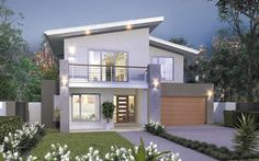 The Hudson Home - Browse Customisation Options House Exterior Color Schemes, Exterior Colors, Modern House Design, Modern Houses, House Construction Plan, Hudson Homes, New Home Designs, Beach House, Architecture Design