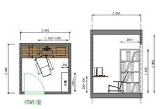 書斎のレイアウトと広さ Mini Office, Floor Plans, Interior, Room, Bedroom, Indoor, Rooms, Interiors, Floor Plan Drawing