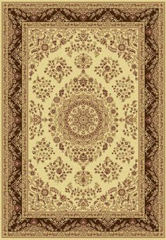 Taj Ivory/Brown Area Rug