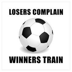 Soccer Winners Train Wall Art Poster