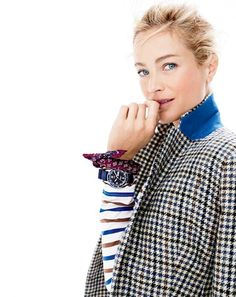 J.Crew women's Campbell blazer in tweed and Saint James® for J.Crew slouchy…