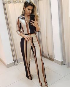 Conjunto MARAVILINDOOOOO😍 Night Outfits, New Outfits, Summer Outfits, Casual Outfits, Look Fashion, Girl Fashion, Party Wear Indian Dresses, Corporate Wear, Work Looks