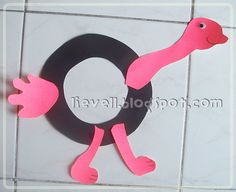 Letter O Crafts For Preschoolers | Simply-hood: Craft : Letter O - Ostrich