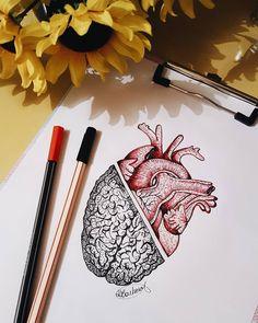 Find the tattoo artist and the perfect inspiration to make your tattoo. Encontre o tatuador e a inspiração perfeita para fazer sua tattoo. Drawing created by Taynara Barbosa (taynara.tattoo) from Paraisópolis - MG. Arte Com Grey's Anatomy, Anatomy Art, Pencil Art, Pencil Drawings, Henna Tattoo Muster, Tattoo Drawings, Art Drawings, Love Drawings, Zealand Tattoo
