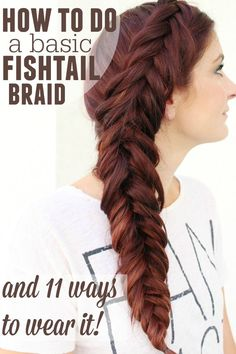 Fishtail is a fun easy braid and a perfect one to learn first! This tutorial shows you up close how to do a fishtail braid with a video tutorial!